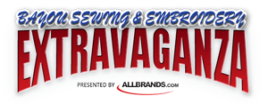 Bayou Sewing and Embroidery Extravaganza Logo