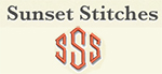 Sunset Stitches Logo