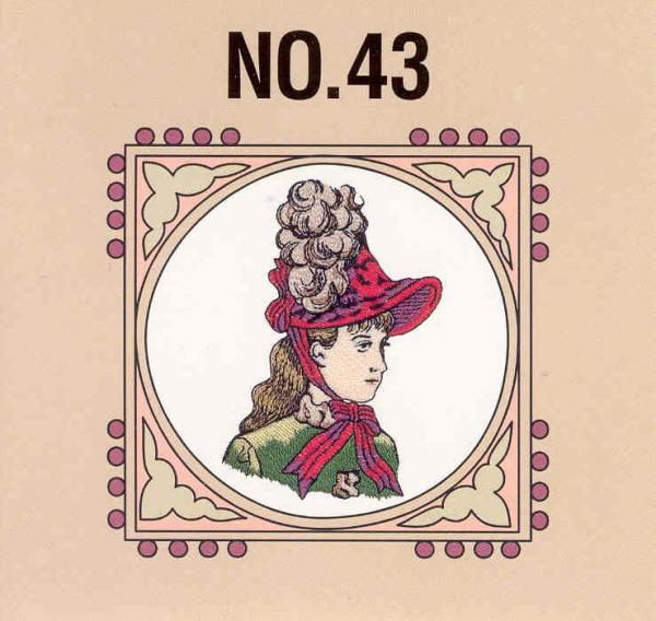 Brother SA343 No. 43 Victorian Embroidery Card For Brother & Baby Lock Larger machines PES Format