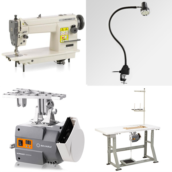 Reliable 3200SN Needle Feed Only Industrial Sewing Machine, 5/11mm Foot Lift, 4mm SL, Reverse, AutoOil, 6000SM Servo Motornohtin