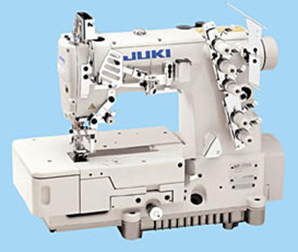 Juki MF-7523-U11 3 Needle, 4 Thread Top Bottom CoverHem Stitch Flatbed Sewing Machine, Assembled Power Stand, Clutch Motornohtin