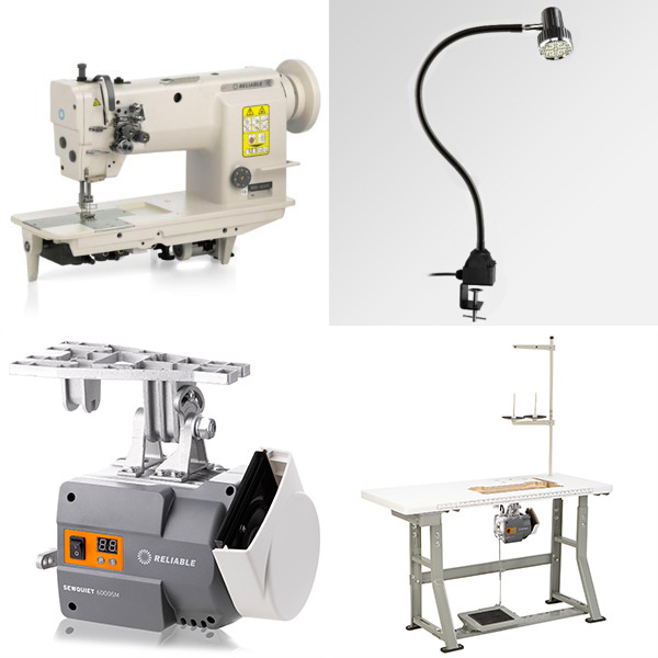 "Reliable 3200TN 1/4"" Double Needle Feed Sewing Machine, 4000RPM Power Stand, 7/14mm Foot Lift, M Bobbins, Safety Clutch, Auto Oil (Replaces MSK-8220B)nohtin"