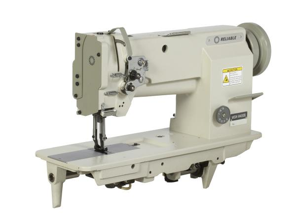 Reliable MSK 8400B Single Needle Feed, Walking Foot Industrial Sewing Machine MSK8400B (Mitsubishi LU2-4400-BOB) Power Stand, 100 Needles, Uber Lamp