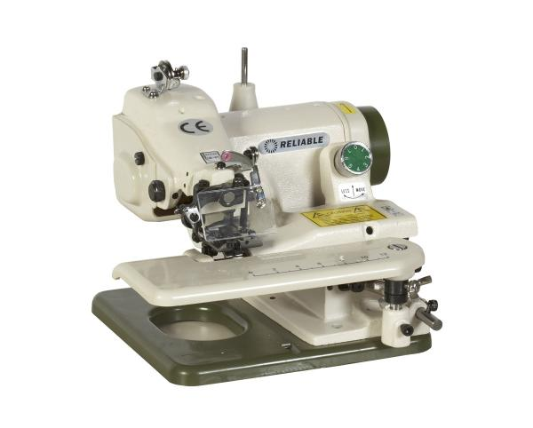 Reliable 700SB MSK-588 Portable Blind Hem Stitch Chainstitch Sewing Machine, Taiwan, Eye Guard, Cylinder Arm, Knee Lever, Swing Plate, 2:1 Skip Stitchnohtin