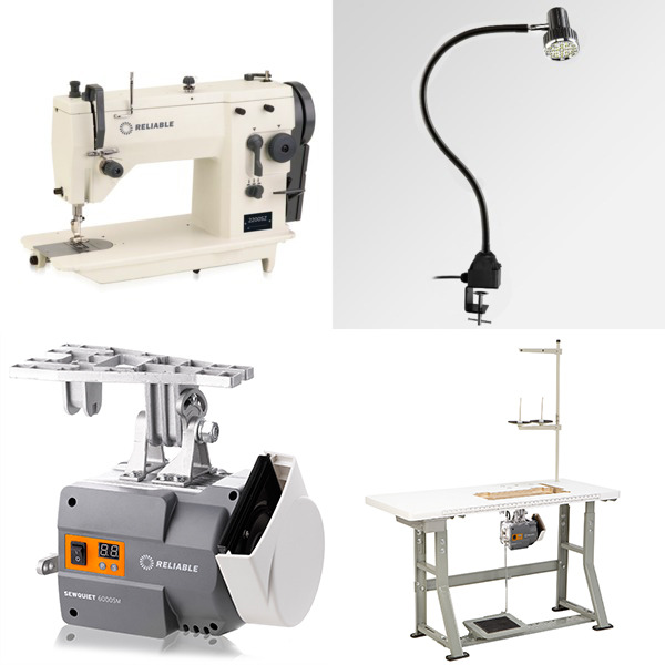 Reliable 2200SZ 9mm ZigZag, 6mm Straight Stitch Industrial Sewing Machine, Servo Motor Power Stand, LED Lamp (Replaces Singer 20U73)nohtin