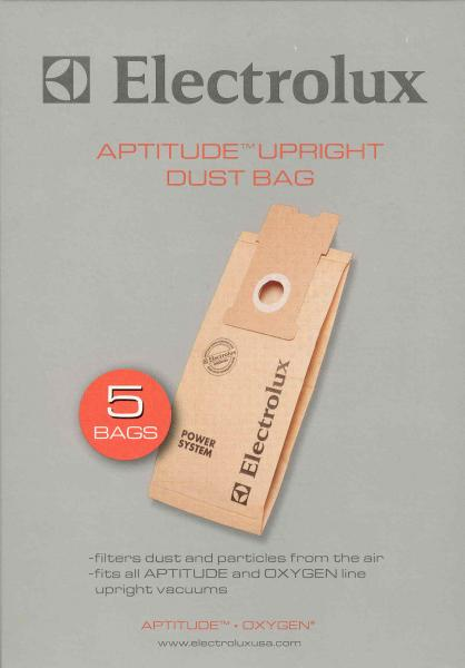 Electrolux Aptitude Upright Vacuum Cleaner Bags - Pack of 5, Fits all APTITUDE and OXYGEN line upright vacuumsnohtin