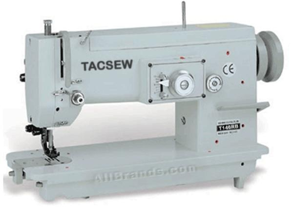 Tacsew T146B 10mm Zigzag Walking Foot Industrial Sewing Machine, 6mm Lift, 5mmSL, Set Up Power Stand 2500RPM (Consew Reliable 146 Sailrite ProZZ)100N*