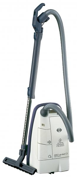 "SEBO Air Belt C3.1 9630AM White Canister Vacuum Cleaner, 1250W, 10.6A, 90"" Water Lift, Parquet Tool, Germany, 16Lbsnohtin"