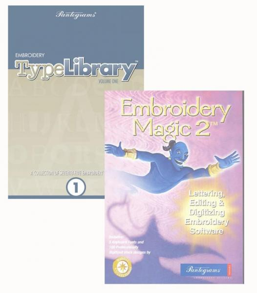 Pantograms Embroidery Type Library V.1 and Embroidery Magic 2 Combo