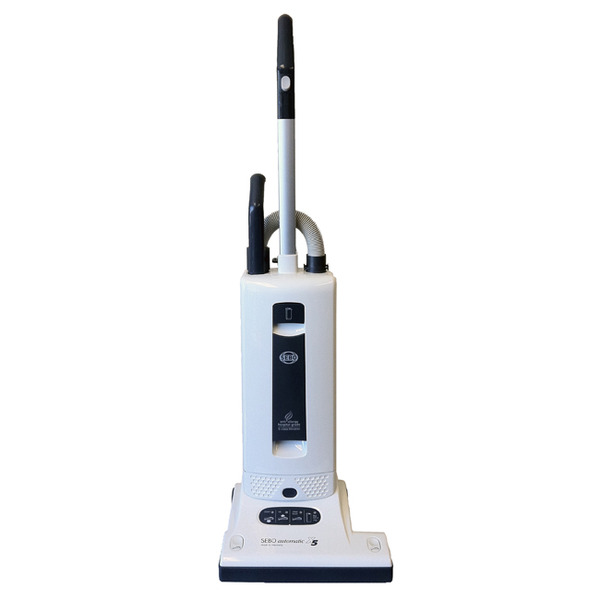 SEBO X5 Automatic 9580AM White Grey Upright Vacuum Cleaner +Exclusive 10 Year Parts and Labor Extended Warrantynohtin