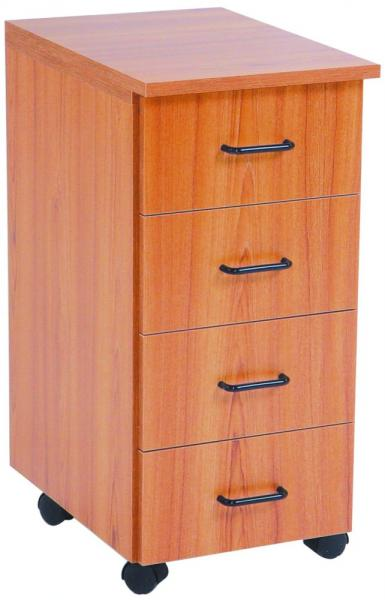 Sylvia 350 Storage Caddy, Maple Top, 4 Drawers, 4 Casters, in 5 Colors*nohtin