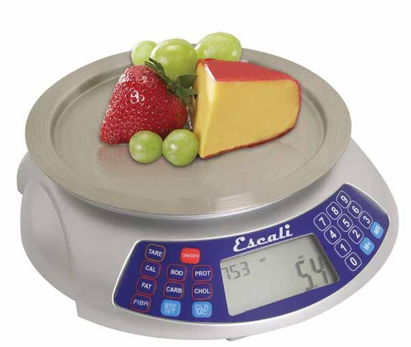 Escali Cibo 63N Nutritional Digital Scale, 6 lb / 3 kg