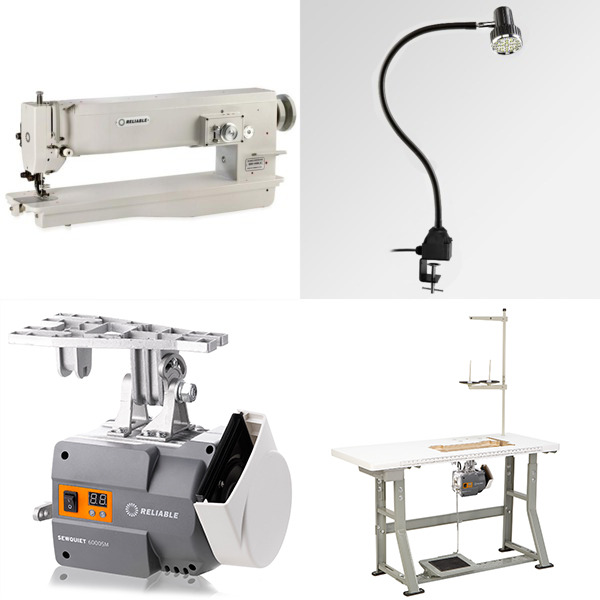 "Reliable 2850ZW 20"" Longarm 3 Step 10mm Zigzag Walking Foot Machine/Power Stand +100 Needles (Replaces MSK146BL-4)nohtin"