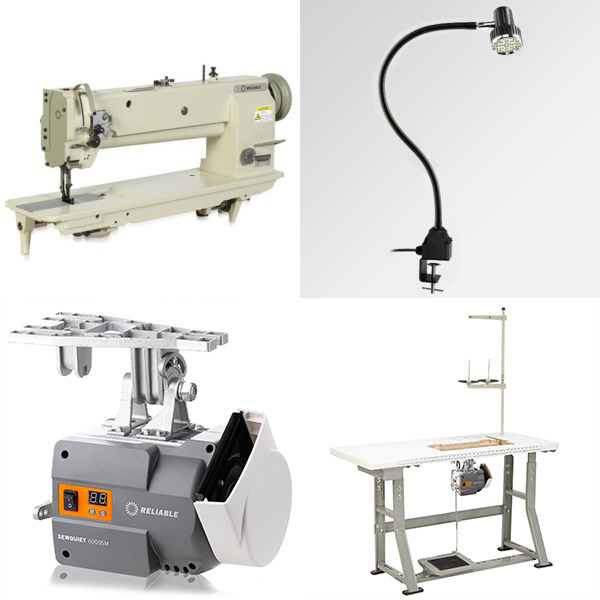 "Reliable 5400TW 18""LongArm 1/4"" Double Needle Feed Walking Foot Sewing Machine/Stand (Replaces MSK-8420BL-18)nohtin"