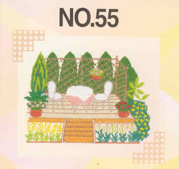 Brother SA355 No.55 Gardening Embroidery Card in .pes Format for*