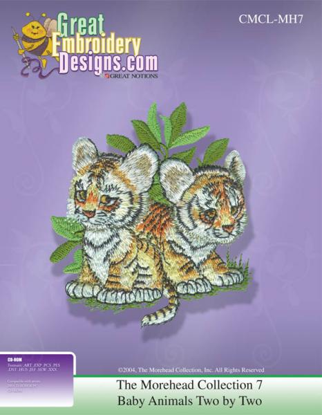 Great Notions 111547 MH7 Morehead Collection 7 Baby Animals Embroidery CD