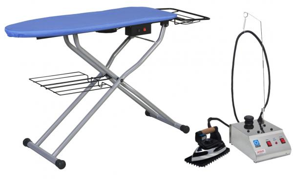 Reliable C81 Vacuum & Up Air Ironing Board Table, Extra Cover Pad, PLUS Reliable i300 Dry Steam Generator Iron & Teflon Iron Shoe -Made in ITALY