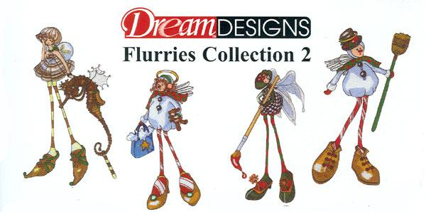 OESD GC212B-FL2 Flurries 2 Embroidery Jumbo Designs Brother Card