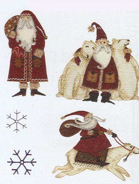OESD PC831B Artic Holiday Debbie Mumm Embroidery Designs Brother Card