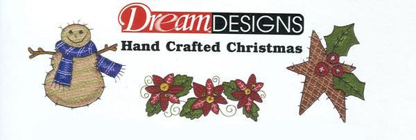 OESD GC211B Hand Crafted Christmas Embroidery Designs Brother Card