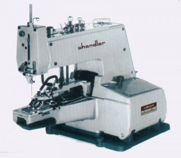 Chandler CM241-1K Chainstitch 2or4 Hole Button Sewer, 8-16-32 Parallel Stitch Tacking, CM24K Cylinder Arm Sewing Machine ThreadCutter SetUp PowerStandnohtin