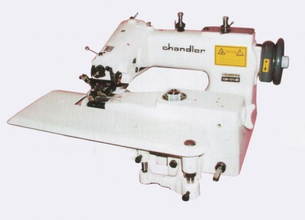 Chandler CM101 Blind Hemmer Single Thread Chain Stitch Industrial Sewing Machine CM-101, Curved Needle, Knee Lever, Skip Stitch, Assembled Power Stand