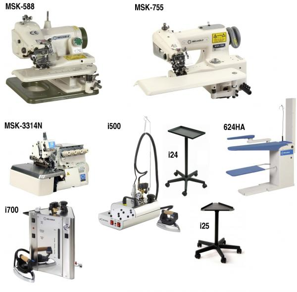 Reliable Alterations Dressmaking Shop Upgrade Equipment, Commercial Portable & Power Stand Blind Hem Stitch & Overlock Serger, Steam Ironing Equipment
