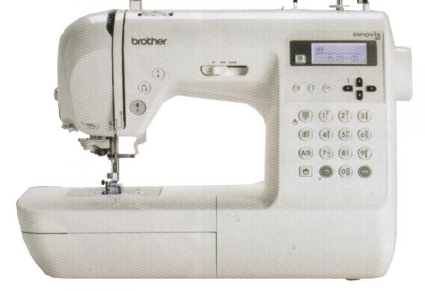 Brother Innovis NS80 Demo Stitch PROJECT RUNWAY Computer Sewing Machine, 2 Fonts,10x1 Step Buttonholes, 55 Alphabet Characters, 35 Stitch Memorynohtin
