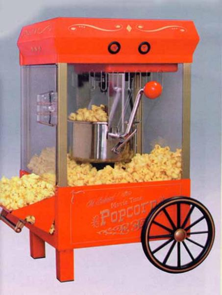 Nostalgia Electrics KPM-508 Old Fashioned Kettle Popcorn Makernohtin