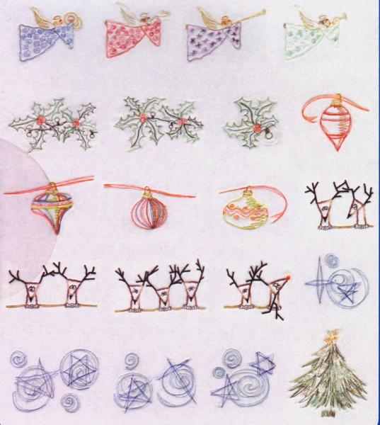 Cactus Punch SIG118 Christmas Dreams Featuring Linda Visnaw's Artwork Multi-Formatted Embroidery CD