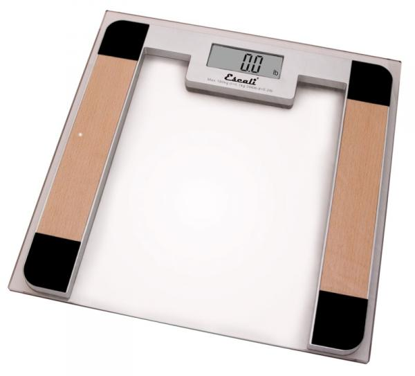 Escali B180S Square Digital Bathroom Scale with Glass Platform - 7 Colors to Choose From