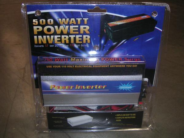 CHT500W 500W Power Inverter Converts 12 Volt DC into Two 110 Volt Outletsnohtin