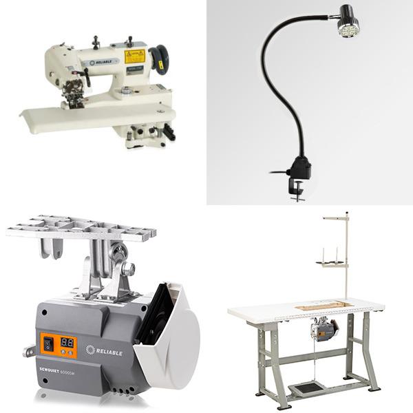 Reliable 7100DB/MSK-755 Heavy Duty Drapery Blind Hem Stitch Sewing Machine, 6000SM Servo Motor Power Stand, Needle Positioner + Bonus 50 Needles!nohtin