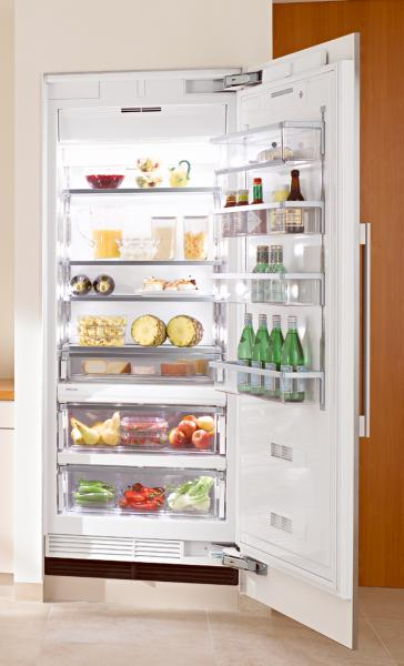 Miele K1801SF Refrigerator, 30�?, Prefinished Fully-Integrated Stainless Steel, Right Hinge