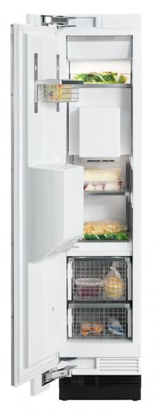 "Miele F1471SF Freezer, 18"", Prefinished Fully-Integrated Stainless Steel, Left Hinge, In-Door Ice Dispenser"