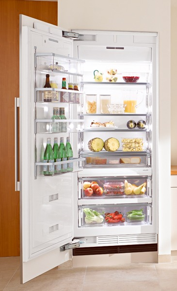 Miele K1911SF Refrigerator, 36�?, Prefinished Fully-Integrated Stainless Steel, Left Hinge
