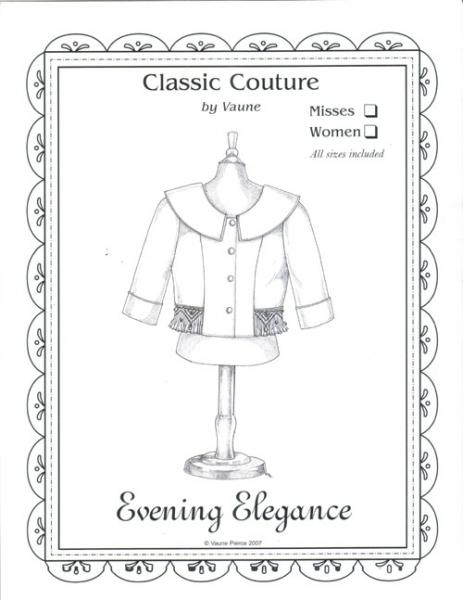"""Classic Couture for Children By Vaune, CC2A Evening Elegance Jacket For Misses And Women, Sizes 24-48.5"""" Waist"""