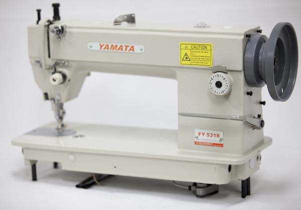 Yamata FY5318 Walking Foot Top Bottom Feed Upholstery Sewing Machine HEAD (Juki 201) M Bobbin, 6-13mm Foot Lift, 8mmStitch, Reverse, 2000SPM, Auto Oilnohtin