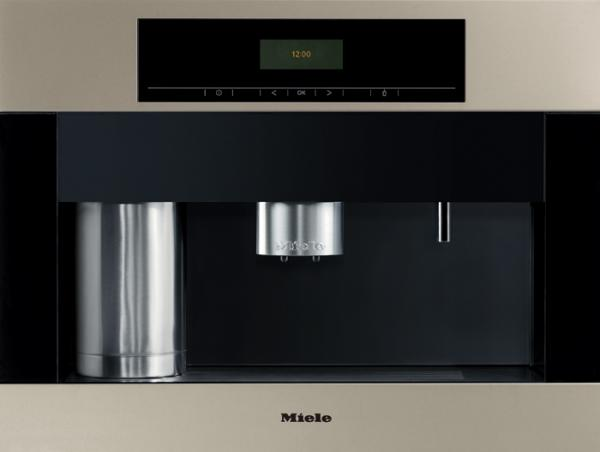 "Miele CVA4062 Coffee Maker System 24""W Built-In, Whole Bean Conical Grinder, 6-12g/Cup, Coarse or Fine, 500gBin, Milk Frother, Water Tank, Energy Star"