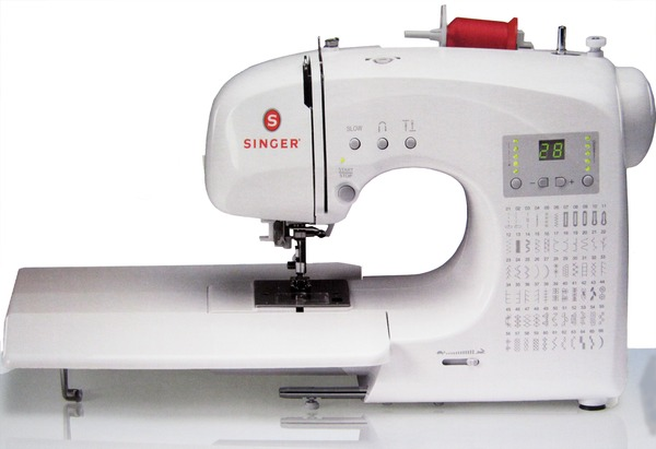 Singer 4166 Factory Serviced 66 Stitch Featherweight Computer Sewing Machine +Ext Table