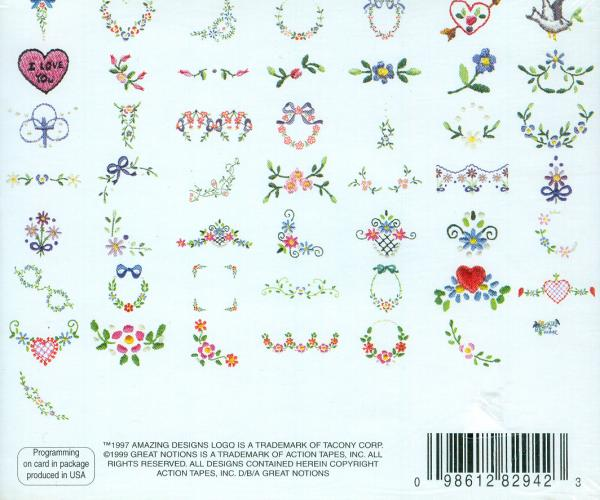 Amazing Designs BMC MP1 Martha Pullen's Little Pleasures Coll. 1 Brother Embroidery Cards