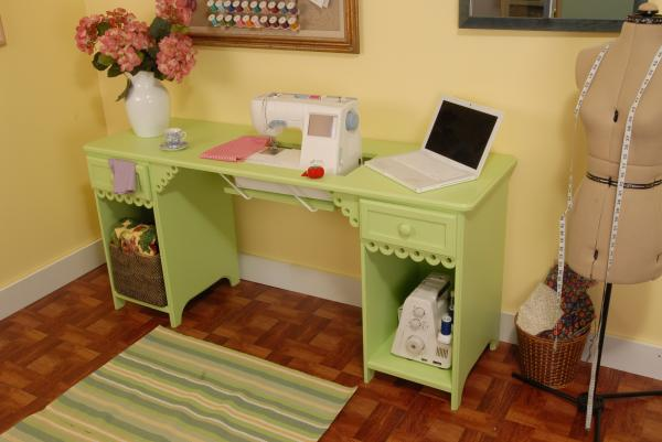 Arrow 1004DL Olivia Sewing Machine Cabinet -Pistachio Green