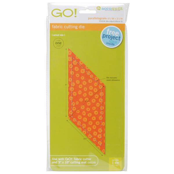 Accuquilt Go 55004 Go Die Parallelogram 3 3 4 Quot X 3