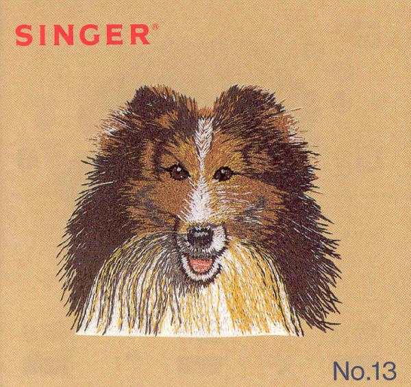 Singer No. 13 Real Pets Dogs & Cats Designs Embroidery Card # 386654 for XL100, 150 & 1000 Quantum Sewing Machines
