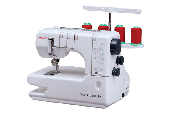 Janome 1000CPX Freearm CoverPro & Chain Stitch Machine, Tension Release +10Yr Parts & Labor Warranty OR 0% No Interest Free Financing Specify