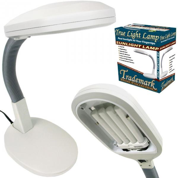 Trademark Home Collection True Light Sunlight Desk Lamp 27W, 26