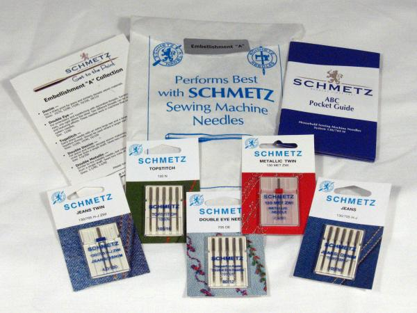 Schmetz C-EMBLA 15x1 HAx1 Embellish Needle Collection: Jeans+Twin, Metallic Twin, Topstitch, Double Eyenohtin