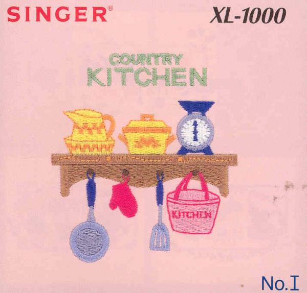Singer Quantum XL-1000 I Country Kitchens Designs Embroidery Card #386804