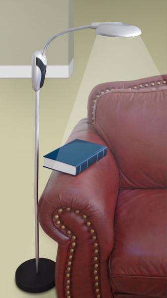 Portable Cordless Floor Lamp 82-4894, Easily Move From Room to Room, 52