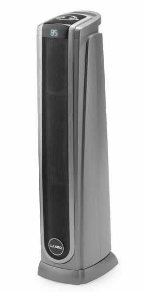"Lasko 5572 30"" Ceramic Tower Heater 1500W, Oscillating High Low Heating Element, Digital Thermostat Set, LED Remote, Auto Off Timer, Assembled, Handlenohtin"